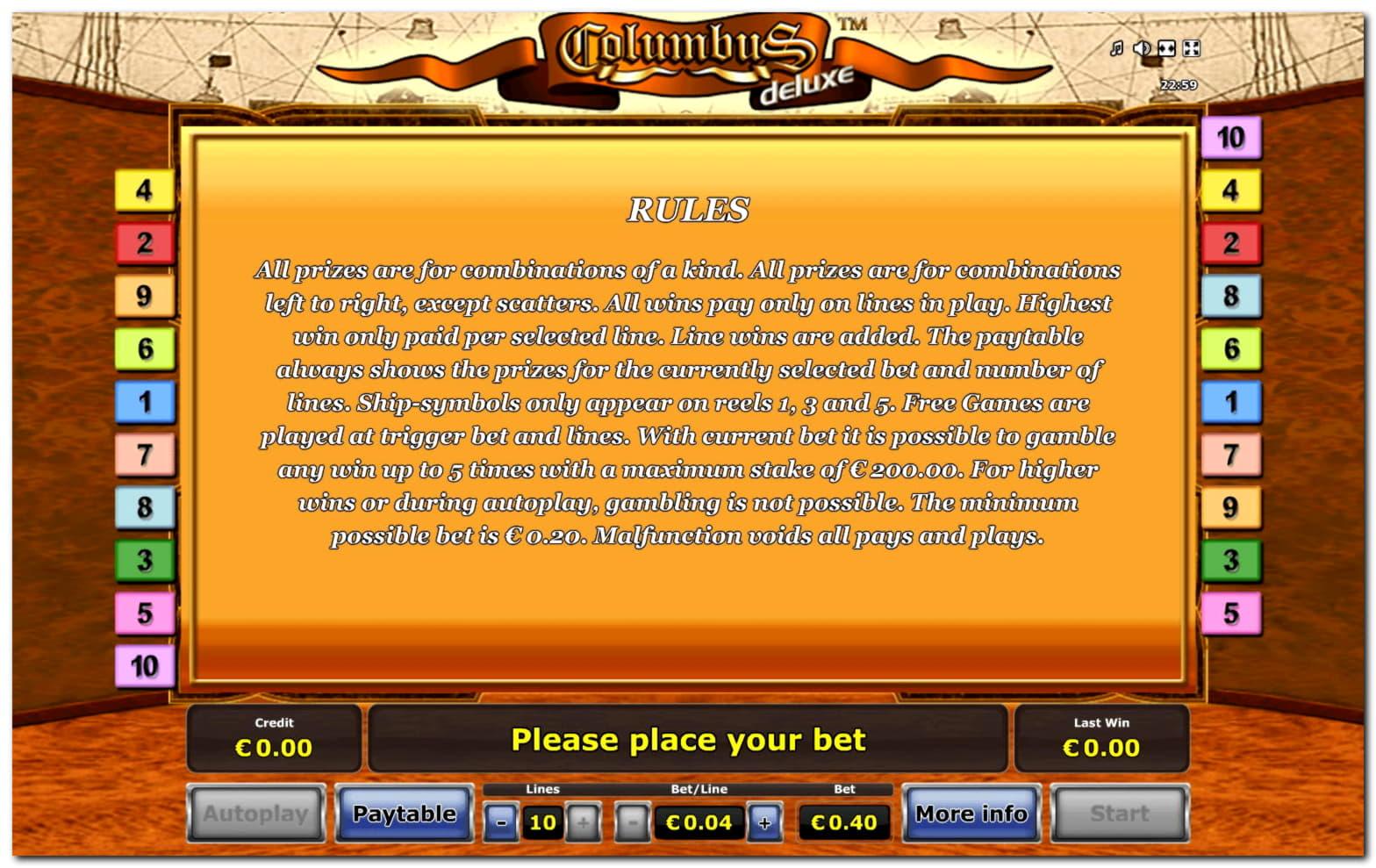 Eur 515 NO DEPOSIT at Wunderino Casino